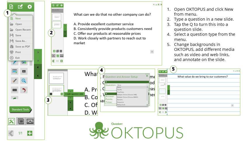 Qwizdom OKTOPUS for interactive displays