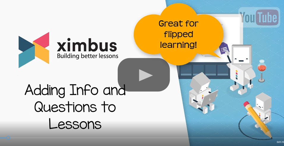 Adding Info and Questions to Ximbus Lessons